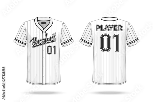 Specification Baseball T Shirt Mockup  isolated on white background , A sample d Poster Mural XXL