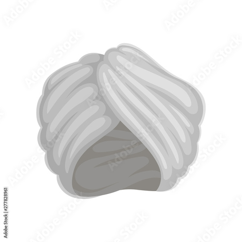 Valokuva Gray turban. Vector illustration on white background.