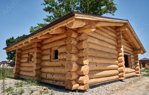 beautiful new log house Poster Mural XXL