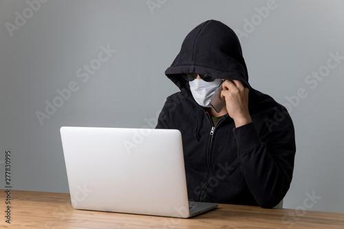 Stampa su Tela パソコンと犯罪者