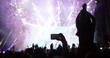 Leinwandbild Motiv People enjoy concert at festival