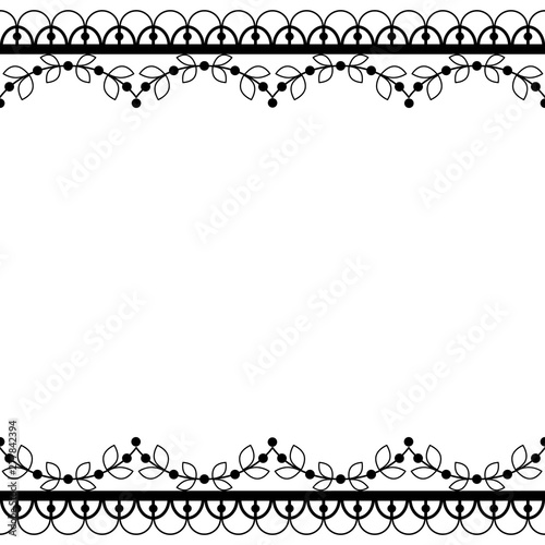 Retro Lace Pattern Vector Greeting Card Wedding Or Birthday