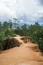 A Cloudy Day At The Pai Canyon In Pai North Of Thailand , This Beautiful Place Will Impress You For Sure !