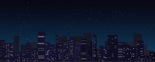 Night City Skyline Background,...