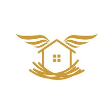 Home Logo That Forms The Nest