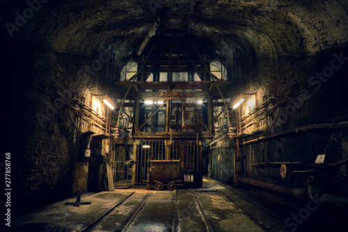 Fototapeta Dark old Mine in Germany obraz