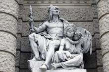 America And Australia, Statues...