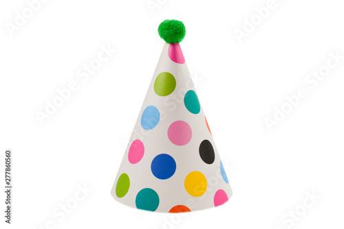 Obraz Birthday cap isolated on white background. - fototapety do salonu