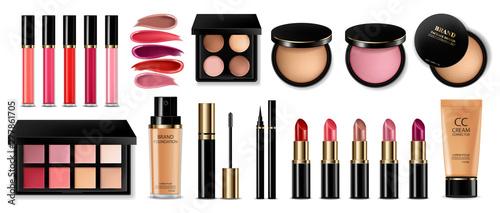 Fotomural Cosmetics set Vector realistic
