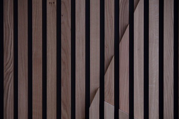 Modern abstract wooden architectural background