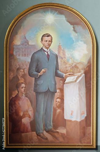 Fotografie, Obraz Blessed Ivan Merz, altarpiece in the Basilica of the Sacred Heart of Jesus in Za