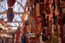Souk, The Street Bazaar Stall In The Medina, Marrakesh, Morrocco.