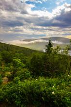 Clouds Streaming Near Eagle Lake, Acadia National Park, Maine