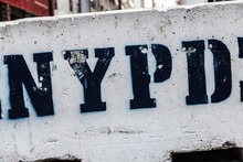 Sign Of The NYPD In New York City, USA