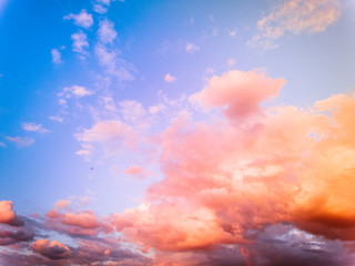 sky with burning clouds