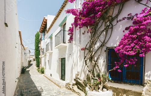 Beautiful historic village in spain