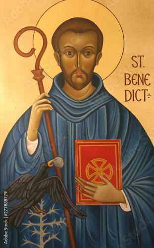 Saint Benedict of Nursia Wallpaper Mural