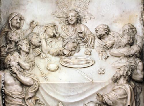 Altar of the Last Supper in Zagreb cathedral Tapéta, Fotótapéta