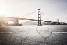A Road Platform Under The Golden Gate Bridge