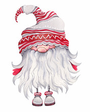 Christmas Cartoon Elf. Scandin...