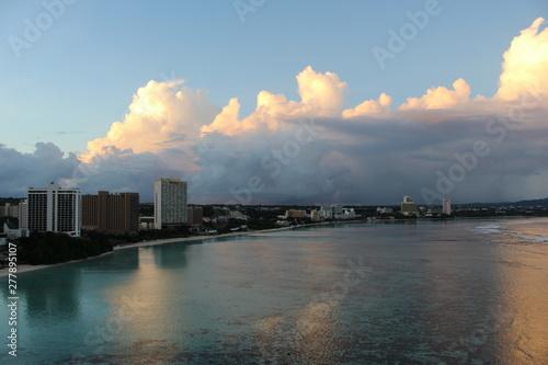 괌 니코호텔 검비치 풍경 바다 하늘 구름 Canvas Print