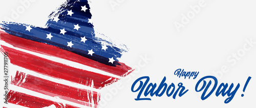 Valokuvatapetti USA Labor day background