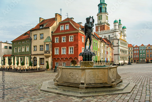 Historic town hall architecture in Poznan Fototapeta