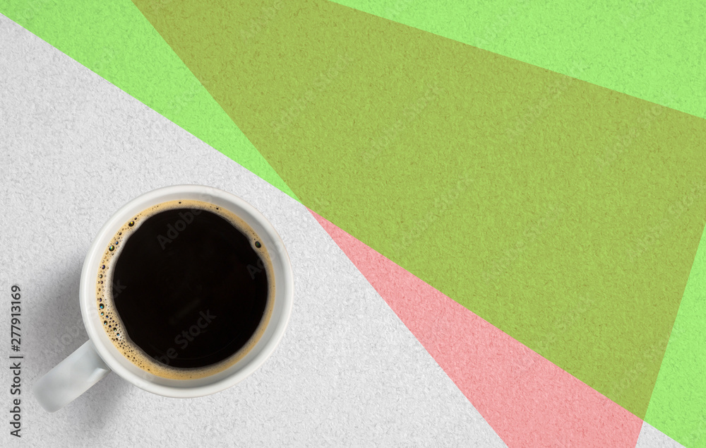 Fototapety, obrazy: cup of coffee on paper background