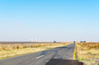 canvas print picture - Road R35 landscape  between Standerton and Bethal