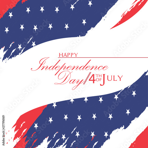 Fototapety, obrazy: USA Independence day graphic design - Vector illustration