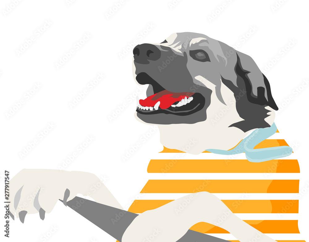 Fototapety, obrazy: colorful dog illustration (cartoon)