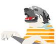 colorful dog illustration (cartoon)