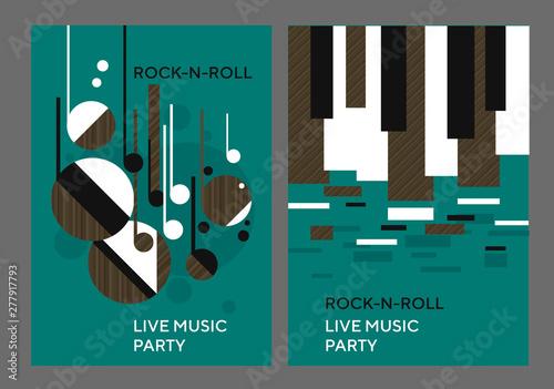 Fototapeta Decorative geometric shapes music poster obraz