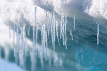 Icicles Hanging From The Base ...
