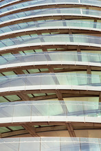 Curved Glass Of Modern Building