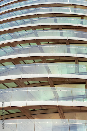 Obraz na plátne curved glass of modern building