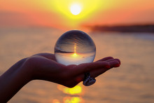 Crystal Ball In The Palm With ...