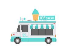 Ice Cream Truck. Isolated On W...