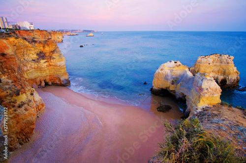 Photo  View on beautiful cliff in Algarve