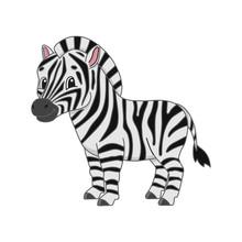 Striped Zebra. Cute Character....