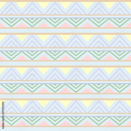Foto op Aluminium Draw Abstract African Seamless Textile Pattern Design 3