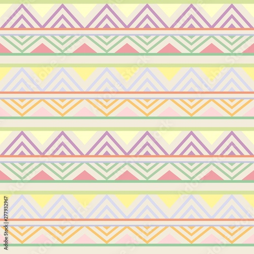 Poster de jardin Draw Abstract African Seamless Textile Pattern Design 2