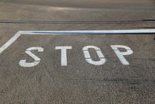 Stop - Road Marking On The Asp...