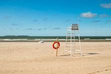 Lifeguard Tower And Lifering O...