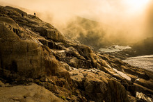 Figures In A Rocky Alpine Land...