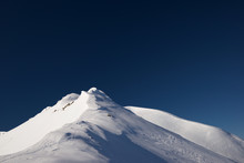Snowy Mountain In The Pyrenees.