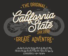 California. Vintage Script Fon...