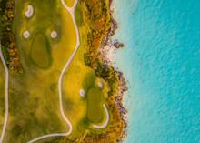 A Golf Course Near The Ocean In Bermuda
