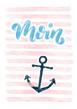 Moin - Maritimes Bild Mit Spru...