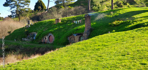 Matamata, Northland, New Zealand - Movie Set created for filming The Lord of the Canvas Print